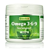 Omega 3-6-9, 700 mg, hochdosiert, 240...