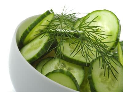 Gurkensalat mit Lachs - Stoffwechselkur Rezepte