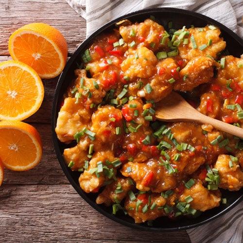 Huhn mit Ingwer-Orangen-Soße Rezept