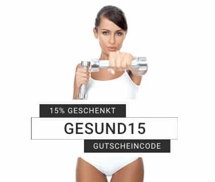 Gutscheincode Gesund15